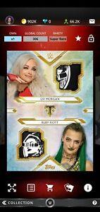 Topps WWE SLAM 2020 Triple Threads Gold Dual Relic Liv Morgan & Ruby Riott