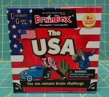 University Games BrainBox Memory Game The USA Edition Ages 8 and Up
