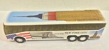 """NYC Coach Bus with Empire State Building Diecast Car Model NYC Souvenirs 6"""""""