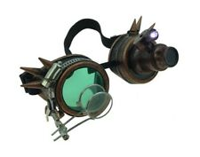 Copper Spiked Mad Scientist Goggles magnifier 12/72 Steampunk Mens LIGHT-UP
