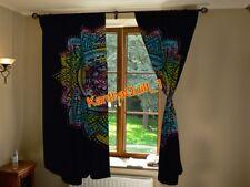 Indische Ombre Mandala Blau Tür hängen Fenster Behandlung Baumwolle Vorhang Boho
