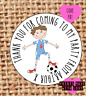 Football party stickers | party bag | sweet cone labels | birthday | 24 |