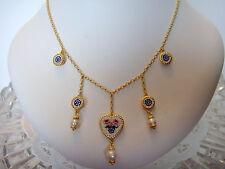 TAGLIAMONTE Designs (PRT316)~ 925SS / YGP Cameo Charm Necklace*Miosotis*
