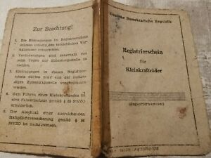 Registrierschein, simson, Schwalbe, KR51/2, Papiere