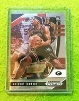 ANTHONY EDWARDS PRIZM ROOKIE CARD JERSEY #5 GEORGIA RC TIMBERWOLVES  2020  Prizm