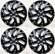 "4 Black Hub Caps 2017- 2019 fit Toyota Corolla 16"" Full Set Wheel Cover"