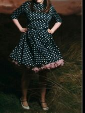 Phase Eight navy and white polka dot tea dress size 14