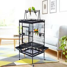 """68"""" Extra large bird cage parrot bird cage with stand bird macaw parrot W/ Wheel"""