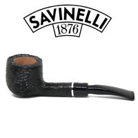 NEW Savinelli - Otello - Rusticated  - 121 - Bent Pot -  6mm Filter Pipe