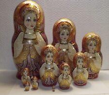 "10 seats, matryoshka,,Russian nesting doll, height 9.4"",Hand-painted. Author."