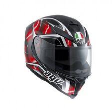 MOTORCYCLE HELMET AGV INTEGRAL FIBER K5 S HURRICANE BLACK/RED/WHITE ROJO SIZE XS