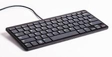 offizielle Raspberry Pi Tastatur, US-Layout, inkl. 3 Port USB Hub, schwarz/grau