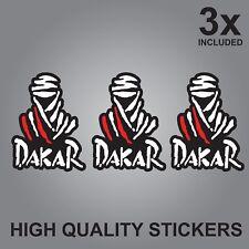 3x DAKAR RALLY RAID QUALITY PRINTED STICKERS  FRANCE AUTOMOTIVE CAR