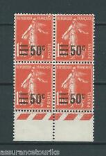 SURCHARGÉS - 1926 YT 225 bloc de 4 - TIMBRES NEUFS** LUXE