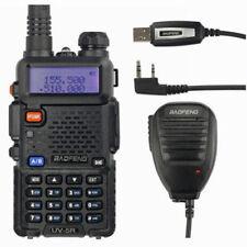 BaoFeng UV-5R + Cable USB + MICRÓFONO Vhf Uhf 2m/70cm Emisora dual Banda-Walkie