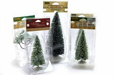 Lemax Christmas Village Tree's Lot Iced Snowy Pine Spruce Bristle Tree Qty 5