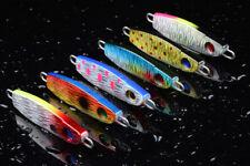 6pcs Lot Seawater Iron Bait Fishing Lures Metal Bait Lead Fish Tackle 7cm 31.6g