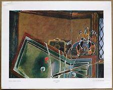 Braque  Le Billard  Rare Vintage Original Lithograph Print from 1960s