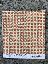 BLOTTER ART ORANGE SUNSHINE Sheet Signed by 3 The Brotherhood of Eternal Love
