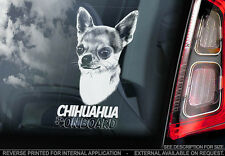 Chihuahua - Car Window Sticker - Dog Sign -V03