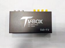 Car DVB-T2 Antenna TV Box 4 Tuner Receiver HDMI HD 1080P H264 High Speed F1