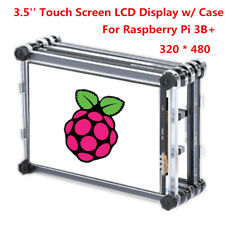 3.5 Inch Resistive Touch Screen Panel LCD Display w/ Case For Raspberry Pi 3B+