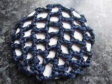 Bleu Marine Bleu Chignon Filet à cheveux épais Tissu Maillé Ballet Danse Riding Snood Housse Élastique