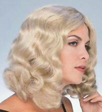 Blonde Flowing Shoulder Length Wavy Wig