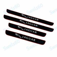 4PCS Black Rubber Car Door Scuff Sill Cover Panel Step Protector For Jaguar
