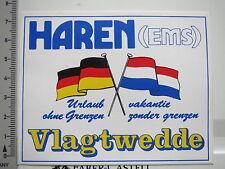 Aufkleber Sticker Haren (Ems) - Vlagtwedde - Urlaub ohne Grenzen (6771)