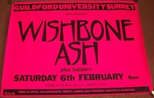 WISHBONE ASH CONCERT POSTER SATURDAY 6th FEBRUARY 1982 GUILDFORD UNIVERSITY UK