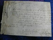 William Juxon - Archbishop of Canterbury and Lord High Treasurer signed document