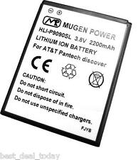 Mugen Power 2200mah Slim Extended Life Battery For Pantech Discover P9090 AT&T