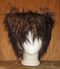 BIG BAD WOLF BROWN FUR HAT KITTY CAT COSTUME ANIME COSPLAY HALLOWEEN SPIRIT WIG