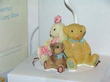 KIDSLINE PIROUTTE HAND PAINTED CERAMIC BALLERINA BEARS NURSERY LAMP BASE