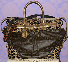 Louis Vuitton Sprouse Monogram Leopard Pony Snakeskin Steamer Travel Bag LIMITED