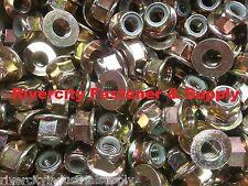 (25) M8-1.25 or 8mm Metric Hex Flange Stop Lock Nut / Nylon Insert DIN 6926 ZY