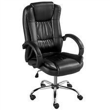 Bonded Leather Office Desk Chair High Back Swivel Conference Chair Rolling