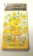 Vintage Gibson Party Invitations set of 8~60's Artwork, Happy Chick