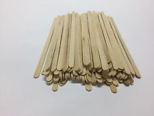 500pk Wooden Coffee Tea Stirrers Waxing Craft Paddle Pop Sticks Cafe Shop