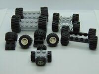 Genuine Lego 20 x Wheels , Tyres + Axle's . ( 5 Sets of 4 ) Random Sizes