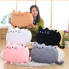 UK Cute Cat Cartoon Cushion Plush Stuffed Throw  Pillow Toy Doll Home XMAS Gift