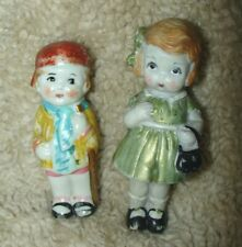 "Vintage Pair Bisque Penny 3"" Dolls, repaintedt, too cute, made In Japan"