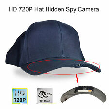 HD 720P Hat Hidden Spy Camera 5.0MP 70 Degree Wide Angle Lens H.264 DV Camcoder