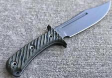 RMJ Tactical JUNGLE COMBAT Knife Dirty Olive - Black Sheath - Authorized Dealer