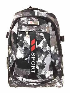 Camouflage Rucksack Damen Herren DIN A4 Schulrucksack Freizeit City Army Sport