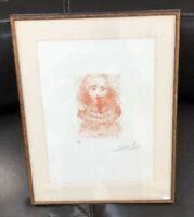 Salvador DALI Original Hand Signed Etching William SHAKESPEARE Portrait Rare '68