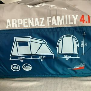 Quechua by DECATHLON - Arpenaz Camping Tent 4.1 | 4 Person Tent 1 Bedroom