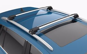 Turtle Silver Air V1 Roof Racks Cross Bar for Mercedes GLE (W166) 2016-2022