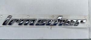 Genuine IRMSCHER BOOT BADGE Vauxhall Opel Emblem Omega Astra Corsa Vectra Zafira